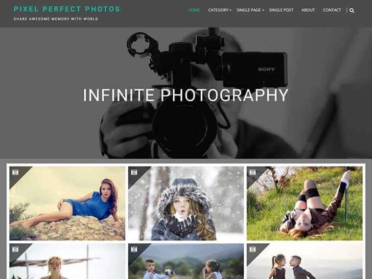 wordpress免费图片模板Infinite Photography