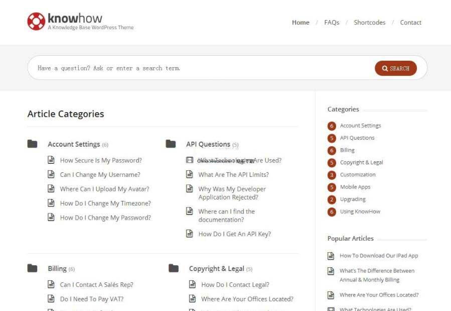 wordpress 问答类主题KnowHow v1.1.4汉化版
